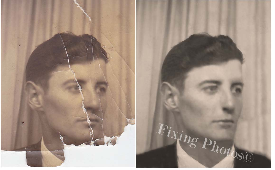 Photo Repair Wizards of Fixing Photos Has Been Piecing Together Damaged Photos Since 2003 Visit https://www.fixingphotos.com If you are not satisfied with the rework, we will refund your money! #photorepair #photorestoration #Anniversarygift #weddingphotorepair