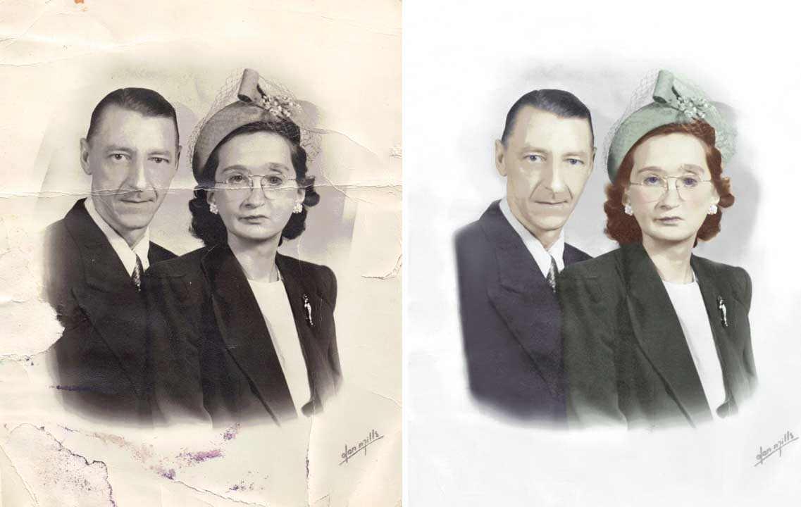Photo Repair Wizards Restores Damaged Wedding Photos https://www.fixingphotos.com For A Free Photo Repair Quote!