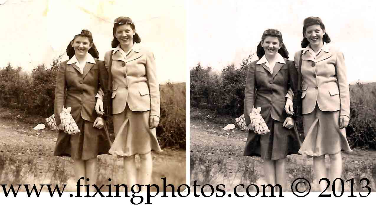 Our Photo Repair Service Will Fix Your Old Photos! https://www.fixingphotos.com/ Since 2003 We Have Been Fixing & Repairing Damaged, Old Photos. MBG!