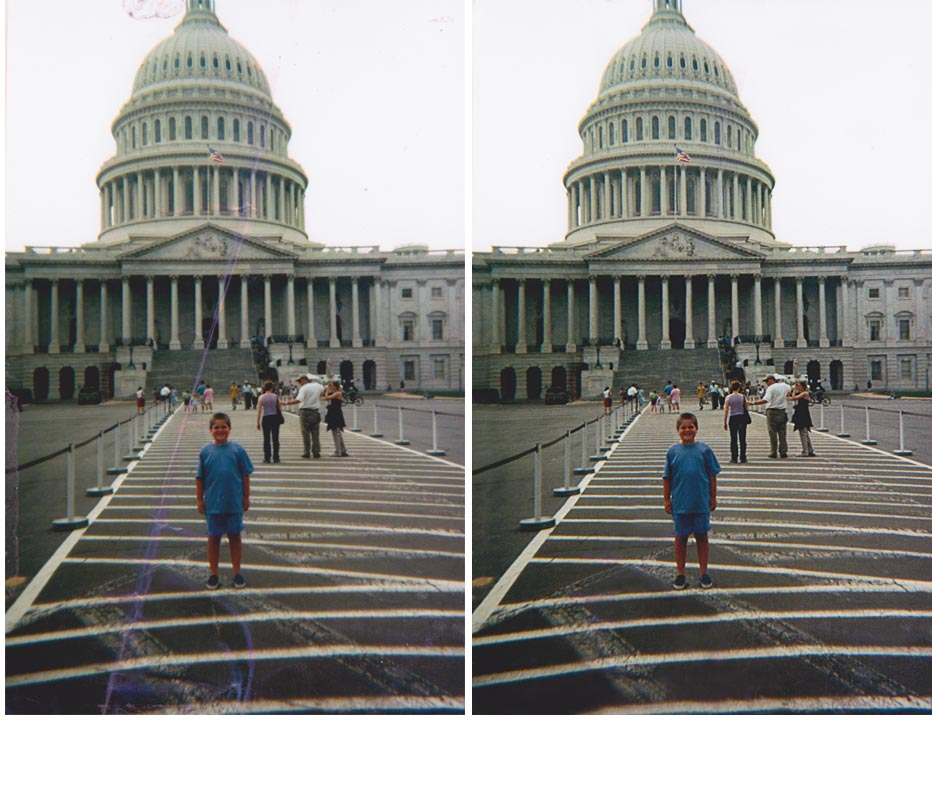 Our Photo Repair Service is 100% Guaranteed!  Visit www.fixingphotos.com If Not Happy We Will Refund Your Money.
