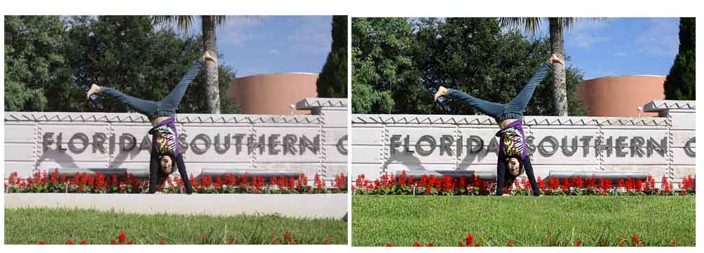 Fixing Photo's photo effect experts removed the concrete and added more grass